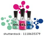 many gel nail lacquers with...   Shutterstock . vector #1118635379