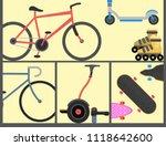 active city transport eco... | Shutterstock .eps vector #1118642600