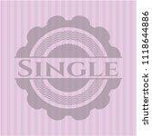 single retro style pink emblem | Shutterstock .eps vector #1118644886