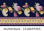 paisley horizontal border on... | Shutterstock .eps vector #1118645303