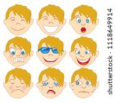 vector illustration of a child... | Shutterstock .eps vector #1118649914