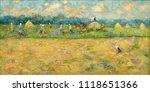 landscape  oil painting  hand... | Shutterstock . vector #1118651366