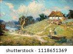landscape  oil painting  hand... | Shutterstock . vector #1118651369