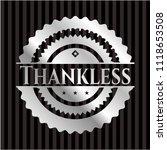 thankless silver emblem | Shutterstock .eps vector #1118653508