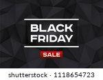 black friday sale. volume... | Shutterstock .eps vector #1118654723