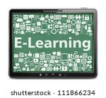 e learning concept  tablet... | Shutterstock .eps vector #111866234