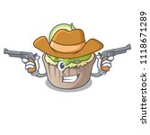Cowboy Lemon Cupcake Character...