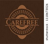 carefree wood emblem. vintage. | Shutterstock .eps vector #1118673026