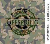 offspring on camo pattern   Shutterstock .eps vector #1118673179