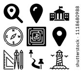 vector icon set  about location ... | Shutterstock .eps vector #1118680988