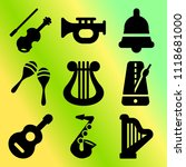 vector icon set  about music... | Shutterstock .eps vector #1118681000