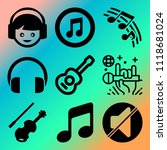 vector icon set  about music... | Shutterstock .eps vector #1118681024