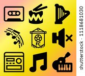 vector icon set  about music... | Shutterstock .eps vector #1118681030