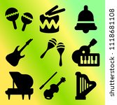vector icon set  about music... | Shutterstock .eps vector #1118681108