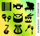 vector icon set  about music... | Shutterstock .eps vector #1118681168