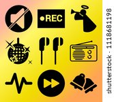 vector icon set  about music... | Shutterstock .eps vector #1118681198