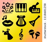vector icon set  about music... | Shutterstock .eps vector #1118681258