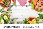 food. avocado dishes  chicken... | Shutterstock . vector #1118682716