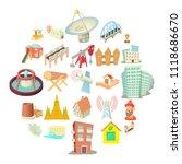 subject icons set. cartoon set... | Shutterstock .eps vector #1118686670
