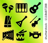 vector icon set  about music... | Shutterstock .eps vector #1118687288
