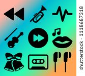 vector icon set  about music... | Shutterstock .eps vector #1118687318