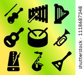 vector icon set  about music... | Shutterstock .eps vector #1118687348