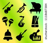 vector icon set  about music... | Shutterstock .eps vector #1118687384