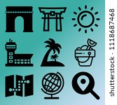vector icon set  about travel... | Shutterstock .eps vector #1118687468