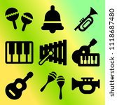 vector icon set  about music... | Shutterstock .eps vector #1118687480