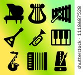 vector icon set  about music... | Shutterstock .eps vector #1118687528