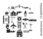 figure icons set. simple set of ... | Shutterstock .eps vector #1118690564