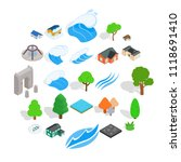 member icons set. isometric set ... | Shutterstock .eps vector #1118691410