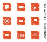 route is served icons set.... | Shutterstock .eps vector #1118691428