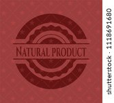 natural product vintage red... | Shutterstock .eps vector #1118691680