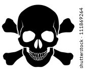 skull and bones   a mark of the ... | Shutterstock .eps vector #111869264