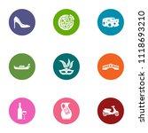 italian reality icons set. flat ... | Shutterstock .eps vector #1118693210