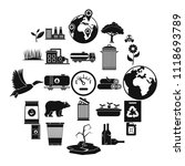 enviroment protection icons set.... | Shutterstock .eps vector #1118693789