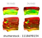 vector colorful paint smear... | Shutterstock .eps vector #1118698154