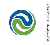 abstract water yin yang logo | Shutterstock .eps vector #1118702426