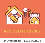 real estate agency icons | Shutterstock .eps vector #1118702636