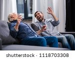 lol. overjoyed happy man and... | Shutterstock . vector #1118703308