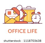 office life icons | Shutterstock .eps vector #1118703638