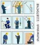 construction plan illustration | Shutterstock .eps vector #1118704748