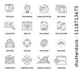 fintech industry icon set | Shutterstock .eps vector #1118713673
