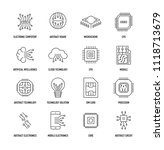 electronics icon set | Shutterstock .eps vector #1118713679
