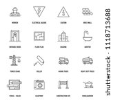 construction icon set | Shutterstock .eps vector #1118713688