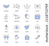 party icons concept | Shutterstock .eps vector #1118713709
