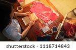 online seller business woman... | Shutterstock . vector #1118714843