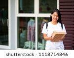 online seller business woman... | Shutterstock . vector #1118714846