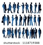 group of different business... | Shutterstock .eps vector #1118719388